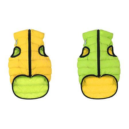 Курточка для собак Airyvest двусторонняя М 47 Салатовая-Желтая