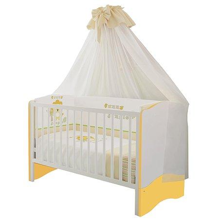 Кровать Polini kids Simple 140*70 Белый-Солнечный