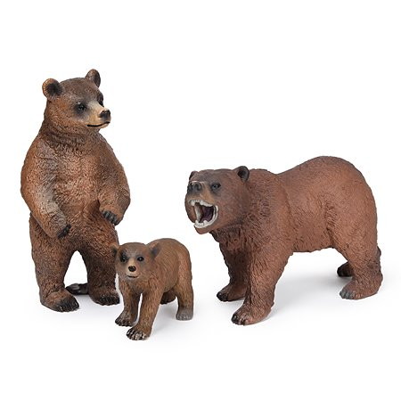 Набор фигурок Attivio Медведи 3 шт YS941220