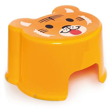 Табурет-подставка Полимербыт Zoo Оранжевый