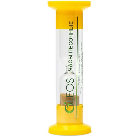 Часы песочные желтые Oleos 3 минуты