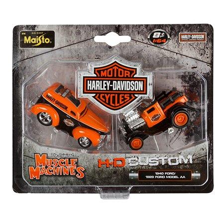 Набор из 2-х гоночных машин MAISTO Muscle Machines H-D/Ford 1:64 (ассорт)