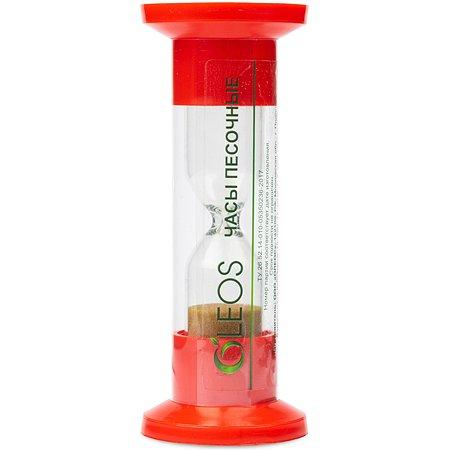 Часы песочные красные Oleos 5 минут