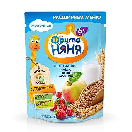 Каша ФрутоНяня молочная пшеничная с яблоком и земляникой 200 г с 6 месяцев
