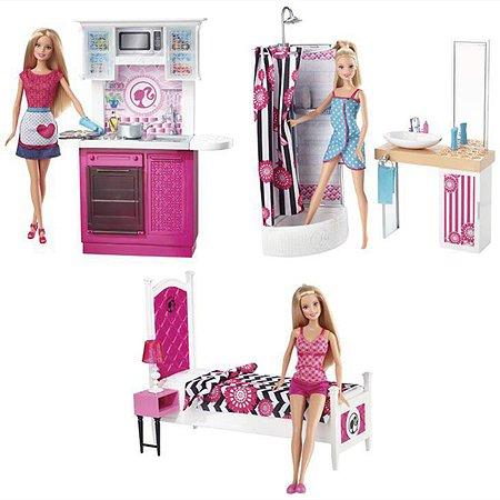 Кукла Barbie и комплект мебели в ассортименте
