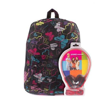 Рюкзак с наушниками 3D-Bags Радужные бабочки цвет мульти