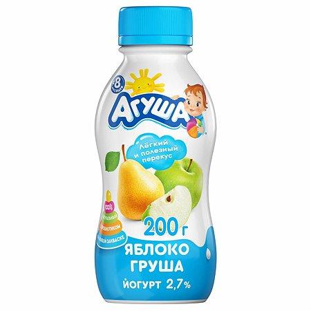 Йогурт питьевой Агуша яблоко-груша 0.2л с 8месяцев