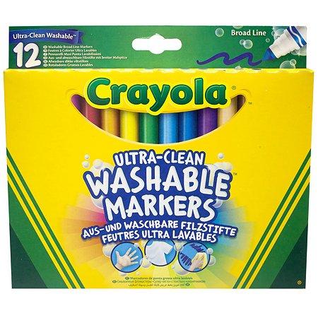 Фломастеры смываемые Crayola 12шт