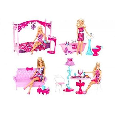 Кукла Barbie Barbie и полный комплект мебели в ассортименте