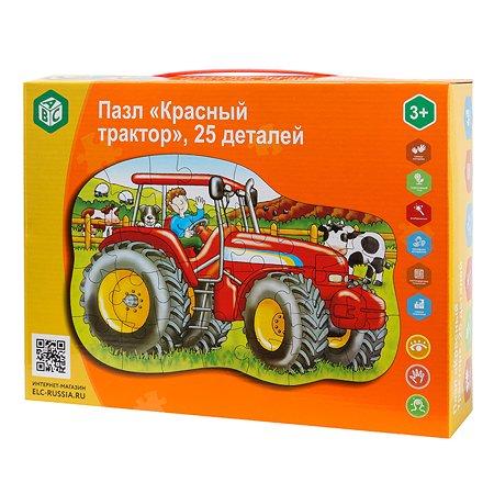 Пазл ABC Красный трактор 25деталей YJ188190041