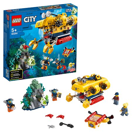 Конструктор LEGO City Исследовательская подводная лодка 60264