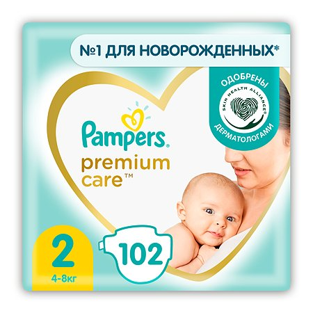 Подгузники Pampers Premium Care 2 4-8кг 102шт