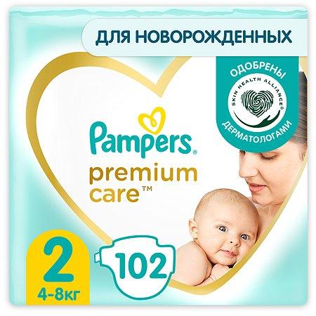 Подгузники Pampers Premium Care 2 4-8кг 102шт