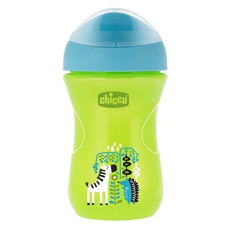 Чашка-поильник Chicco EsyCup 266 мл с 12 месяцев Зеленый Зебра