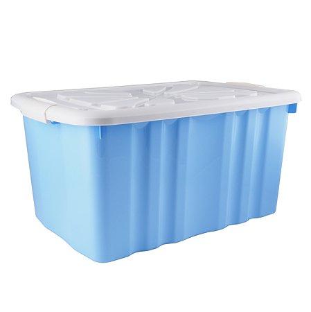 Ящик для игрушек Полимербыт на колесах 45л Голубой 4330133