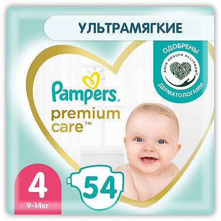 Подгузники Pampers Premium Care 4 9-14кг 54шт