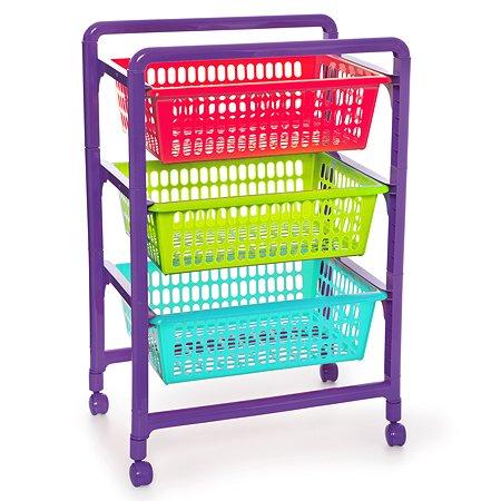 Контейнер для игрушек Полимербыт с выдвижными лотками на колесах 4346000