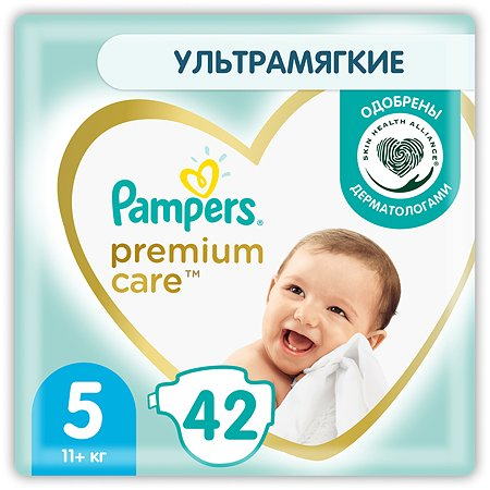 Подгузники Pampers Premium Care 5 11+ кг 42шт