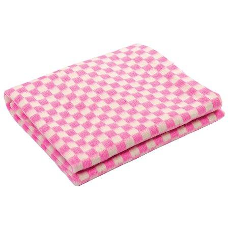 Одеяло Ермошка байковое клетка Белая-Розовая 57-3ЕТ