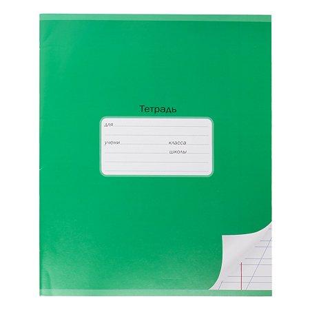 Тетрадь школьная Мировые тетради А5 Косая линия 12л Зеленый ТШ12K7640