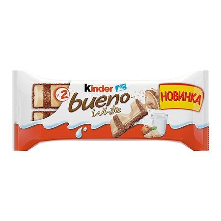 Батончик Kinder Kinder Bueno белый шоколад 39г