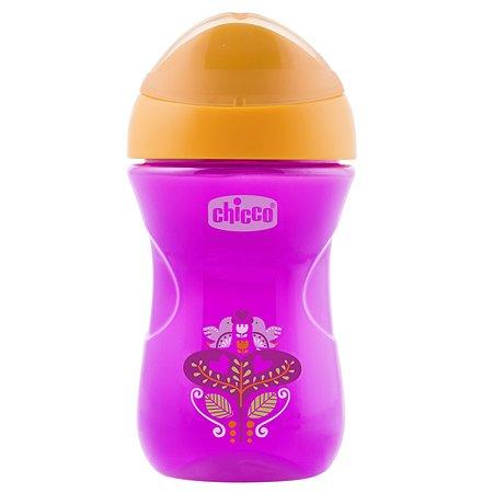 Чашка-поильник Chicco Easy Cup 266 мл с 12 месяцев Розовый Цветочек