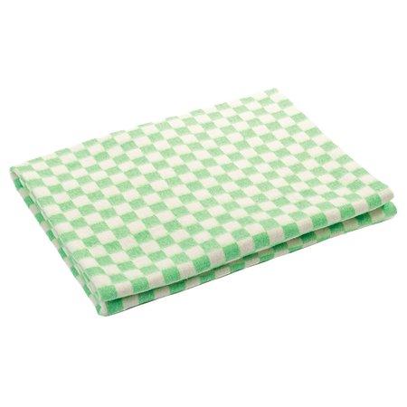 Одеяло Ермошка байковое клетка Белая-Зеленая 57-3ЕТ