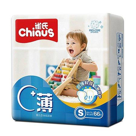 Подгузники Chiaus Pro Core Ultra-Thin S (3-6 кг) 66 шт