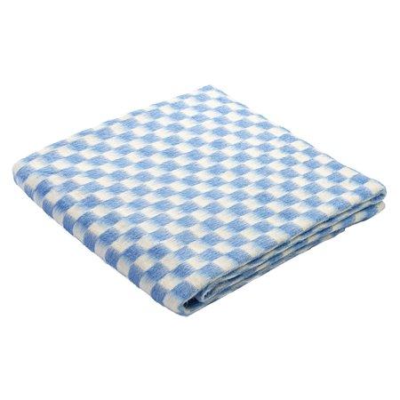 Одеяло Ермошка байковое клетка Белая-Синяя 57-1 ЕТ/118
