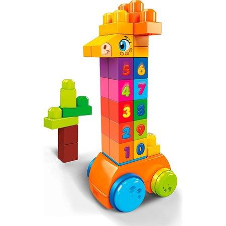 Конструктор Mega Bloks Жираф с цифрами GFG19