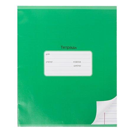 Тетрадь школьная Мировые тетради А5 Узкая линия 12л Зеленый ТШ12K8640