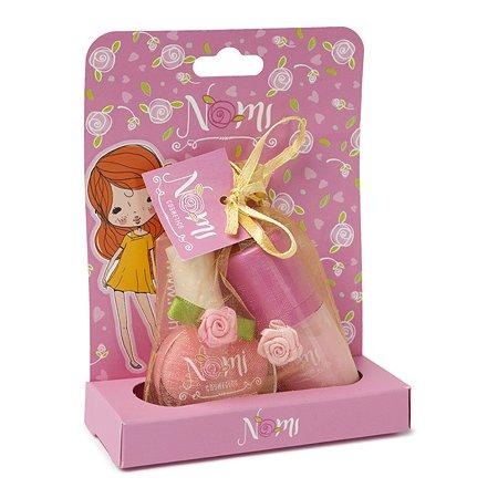 Набор для девочек NOMI лак + блеск для губ в упаковке на подставке