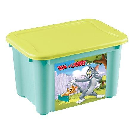 Ящик Пластишка Tom and Jerry S универсальный с аппликацией Бирюзовый