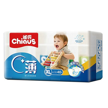 Подгузники Chiaus Pro Core Ultra-Thin XL  (>13 кг) 40 шт