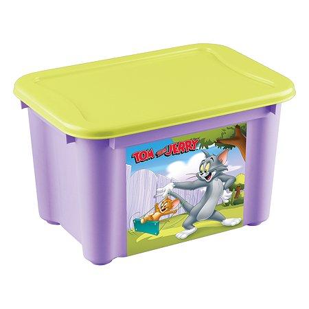 Ящик Пластишка Tom and Jerry S универсальный с аппликацией Сиреневый