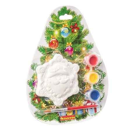 Набор для творчества Bondibon Елочные украшения Снежинка на карте Елочка ВВ1564