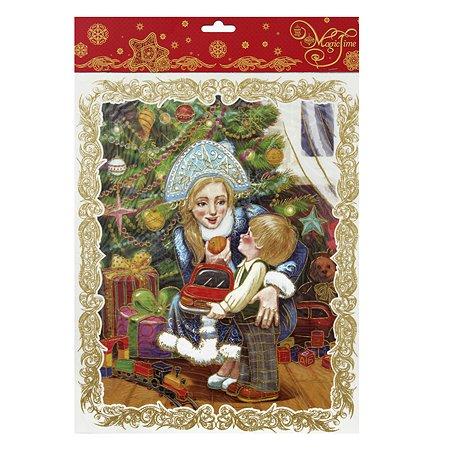 Украшение оконное Magic Time Снегурочка с малышом