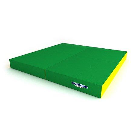 Мягкий щит ROMANA pro в 4 сложения ДМФ-ЭЛК-14.96.01 зеленый-желтый