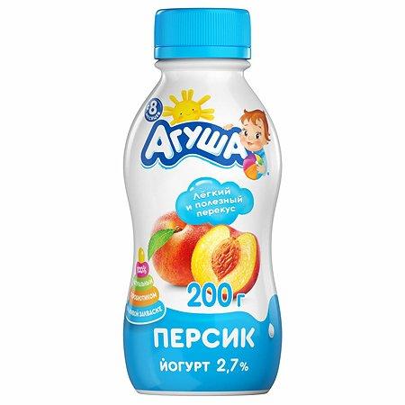 Йогурт питьевой Агуша персик 0.2л с 8месяцев
