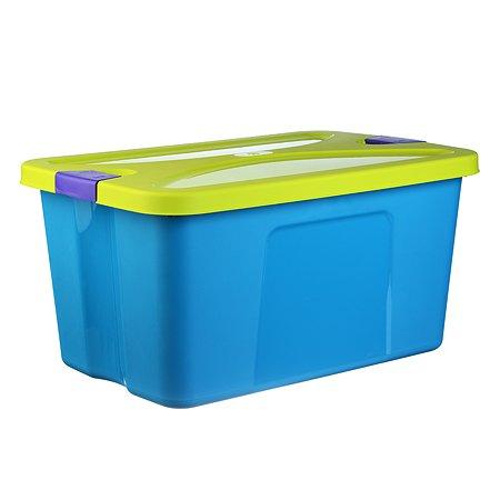 Ящик для игрушек IDEA СЕКРЕТ 45л 30*40*60 бирюз