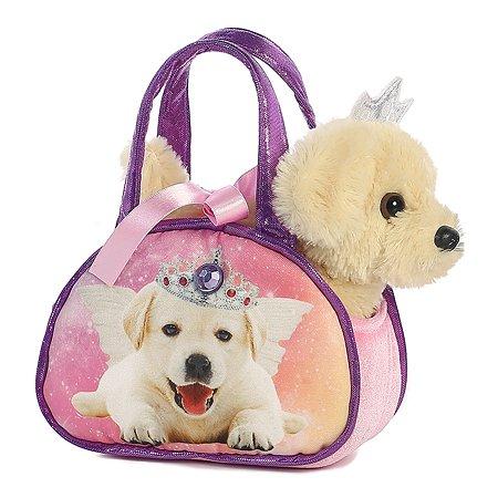 Мягкая игрушка Aurora Собачка в сумке переноске