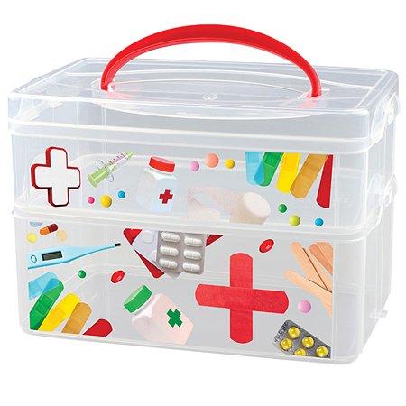 Коробка универсальная Эконова с ручкой 2 секции MULTI BOX