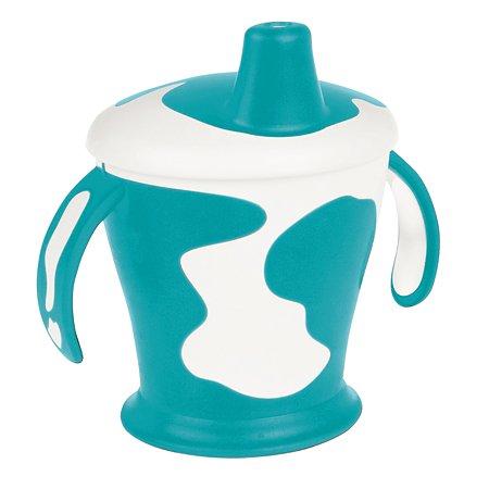 Чашка-непроливайка Canpol Babies с ручками Little cow 9+ 250мл Бирюзовая