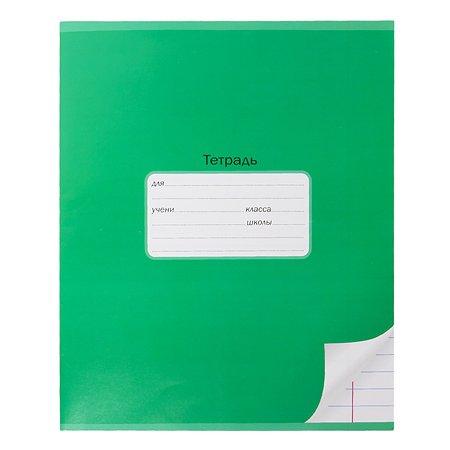 Тетрадь школьная Мировые тетради А5 Линия 24л Зеленый ТШ24K6640