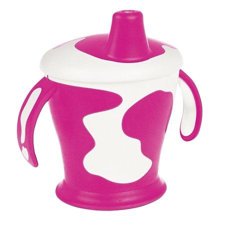Чашка-непроливайка Canpol Babies с ручками 250мл с 9месяцев Розовый