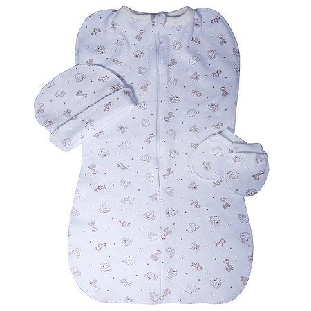Комплект для новорожденного Babyton Zoo Кокон 3предмета 12465