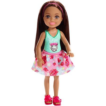 Кукла Barbie Челси Брюнетка в топе с тигром FXG79