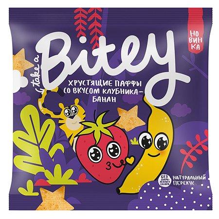 Снек Take a Bitey паффы мультизлаковые клубника-банан 20г