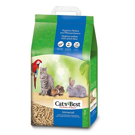 Наполнитель для кошек Cats Best Universal древесный впитывающий 4 кг