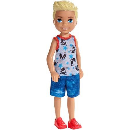 Кукла Barbie Челси Блондин в комбинезоне со щенком FXG80